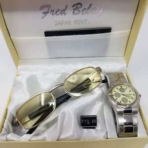 Fred Belay Unisex Watch & Sunglass Set New NWT